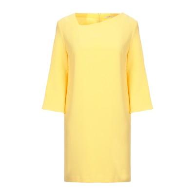 BIANCOGHIACCIO ミニワンピース&ドレス イエロー 46 ポリエステル 96% / ポリウレタン 4% ミニワンピース&ドレス