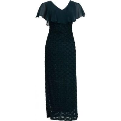 コネクテッド Connected レディース パーティードレス Vネック ワンピース・ドレス V-Neck Cape-Overlay Gown Dark Mallard