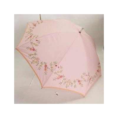 晴雨兼用スライドショート 無地刺繍パイピング