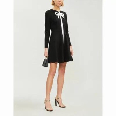 テッドベーカー ワンピース bow-neck jersey dress Black