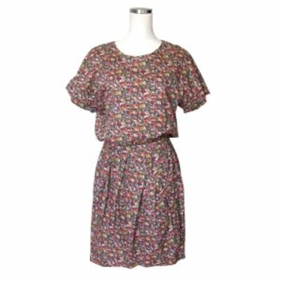 美品 MACPHEE マカフィー フラワーワンピース (TOMORROWLAND トゥモローランド 花柄 半袖 ドレス) 109052【中古】