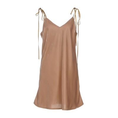 メルシー ..,MERCI ミニワンピース&ドレス キャメル 44 ポリエステル 100% ミニワンピース&ドレス
