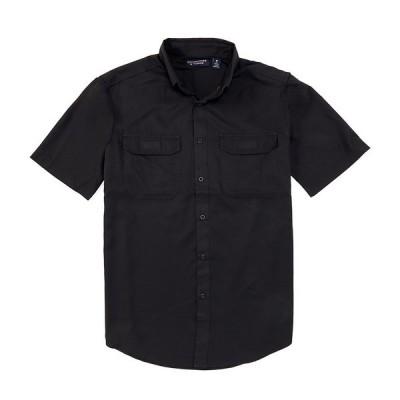 ランドツリーアンドヨーク メンズ シャツ トップス Performance Short-Sleeve Capeback Sportshirt Black