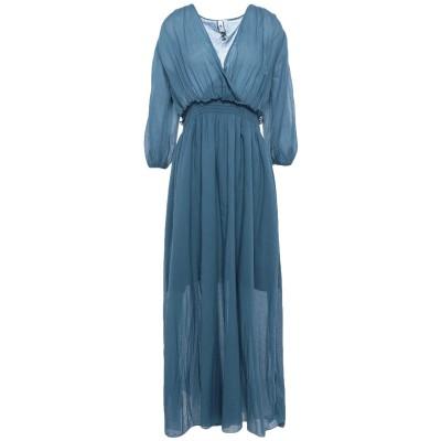 EUROPEAN CULTURE 7分丈ワンピース・ドレス ブルーグレー S コットン 100% 7分丈ワンピース・ドレス