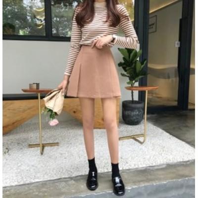 韓國ファッション プリーツスカート ミニスカート ガーリー レディース かわいい キュート 韓國 肌見せ プチプラ 春 スカート
