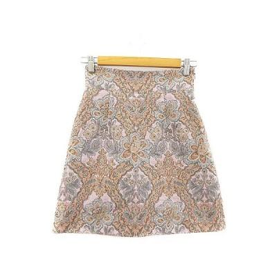 【中古】デイシー deicy スカート 台形 ミニ 花柄 刺繍 0 ピンク /AAM36 レディース 【ベクトル 古着】