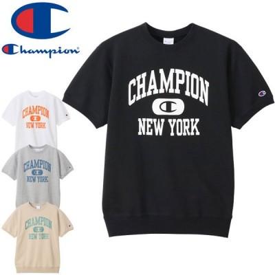 チャンピオン Champion メンズ ショートスリーブクルーネックスウェットシャツ C3-T004 Tシャツ 半袖 ティーシャツ 丸首 裏毛 トップス カットソー ウェア