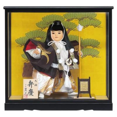 童ケース飾り「六法弁慶(ろっぽうべんけい)」7号 間口43cm [端午の節句/子供の日]