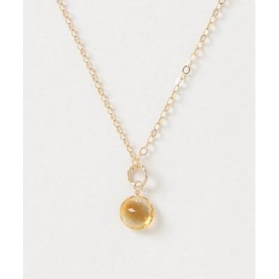 TONE / 【Trine Jewelry】宝石ブリリアントカットの一粒ネックレス 14KGF WOMEN アクセサリー > ネックレス