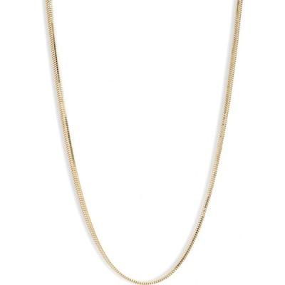 アルジェントヴィーヴォ ARGENTO VIVO STERLING SILVER レディース ネックレス ジュエリー・アクセサリー Puff Snake Chain Necklace Gold