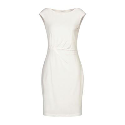 BIANCOGHIACCIO ミニワンピース&ドレス アイボリー L アセテート 95% / ポリウレタン 5% ミニワンピース&ドレス