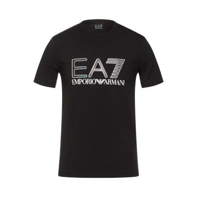 EA7 T シャツ ブラック XXS コットン 94% / ポリウレタン 6% T シャツ