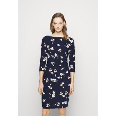 ラルフローレン レディース ワンピース トップス PRINTED DRESS - Jersey dress - navy/taupe navy/taupe