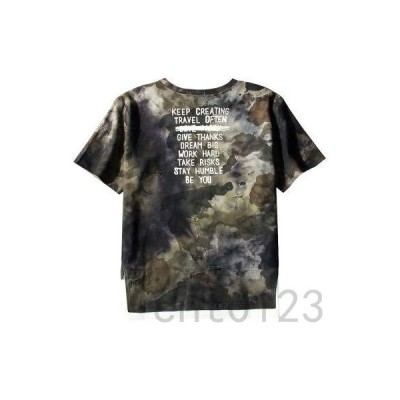 Tシャツメンズレディーススリットプリント半袖tシャツ迷彩Tシャツ丸首夏tシャツゆったり大きいサイズおしゃれ着痩せ通学夏物新作