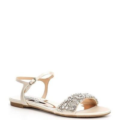 バッジェリーミシュカ レディース サンダル シューズ Carmella Satin Embellished Dress Sandals