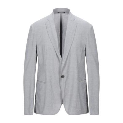 エンポリオ アルマーニ EMPORIO ARMANI テーラードジャケット グレー 46 バージンウール 97% / ポリウレタン 3% テーラード