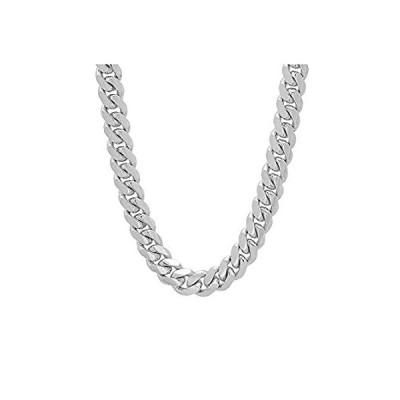 【イチオシ厳選】Verona Jewelers 925スターリングシルバー 6.5mm 7mm 9mm イタリアン マイアミキューバンネックレスチェーン 厚いリンク