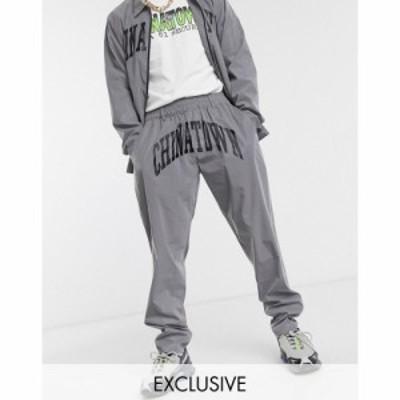 チャイナタウンマケット Chinatown Market メンズ ボトムス・パンツ Arc 3M reflective pants in silver シルバー