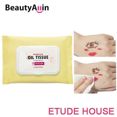 Etude House エチュードハウス - Pick Clean Oil Tissue 30 Sheet クリーンオイルティッシュを選ぶ / 韓国コスメ