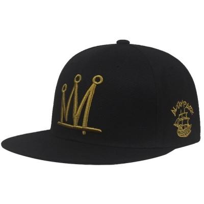 クラウン スナップ ベース ボール キャップ 野球帽 帽子 スポーツ プリント ロゴ テキスト 刺? デザイン カジュアル ソリッド ハット 男性