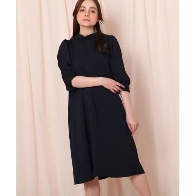 Couture Brooch/クチュールブローチ 【WEB限定サイズ(LL)あり】2WAYボウタイワンピース ネイビー(093) 38(M)