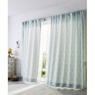 【1cm単位オーダー】パステル調リボン柄カーテン(1枚) ドレープカーテン(遮光あり・なし) Curtains, blackout curtains, thermal curtains, Drape(ニッセン、nissen)