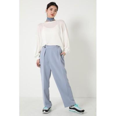 (SHEL'TTER SELECT/シェルターセレクト)ライトタックワイドパンツ(Light Tuck Wide Trouser)/レディース L/BLU1