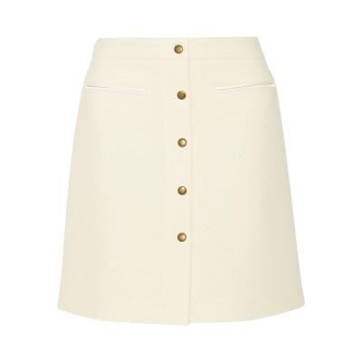 ADAM LIPPES ひざ丈スカート アイボリー 6 ウール 55% / アクリル 32% / レーヨン 13% ひざ丈スカート