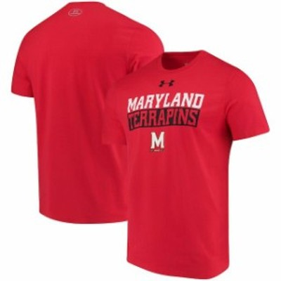 Under Armour アンダー アーマー スポーツ用品  Under Armour Maryland Terrapins Red Team Bar Charged Cotton Performance Tri-Blend T