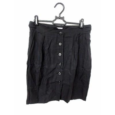 【中古】アーバンリサーチ URBAN RESEARCH スカート タイト ひざ丈 38 黒 ブラック /AKK20 レディース