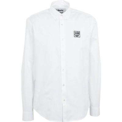 エチュード ETUDES メンズ シャツ トップス Solid Color Shirt White