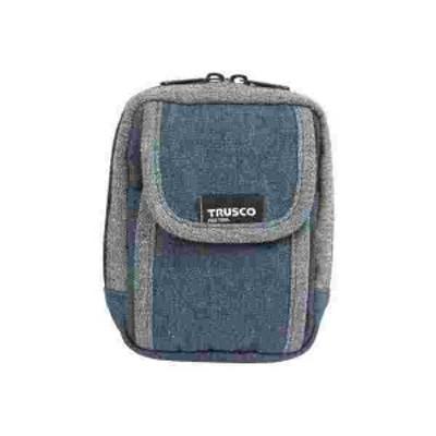 TRUSCO(トラスコ) デニム携帯電話用ケース 1ポケット ブルー TDC-H101
