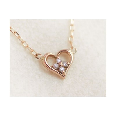 ネックレス ダイヤモンド 「モンプチ・シェリー」 K10ピンクゴールド 4月誕生石