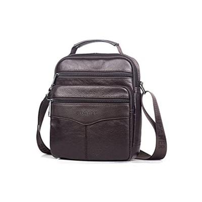 SPAHER メンズ 牛革 ショルダーバッグ 肩掛けバッグ ビジネスバッグ 本革 斜め掛けバッグ トップクラフト 紳士 iPad対応 通勤 通学