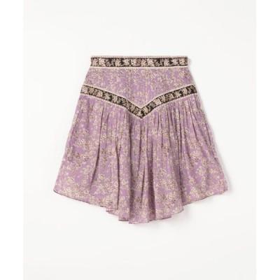 TOMORROWLAND/トゥモローランド ISABEL MARANT ETOILE VALERIE コットン ギャザースカート 74 パープル系 36