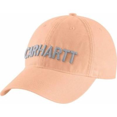 カーハート レディース 帽子 アクセサリー Carhartt Women's Canvas Block Logo Graphic Hat Cantaloupe