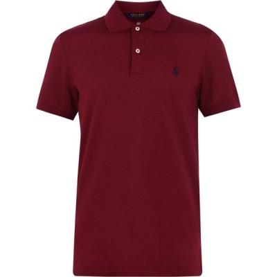 ラルフ ローレン Polo Ralph Lauren メンズ ポロシャツ 半袖 トップス Short Sleeve Knitted Polo Shirt Red