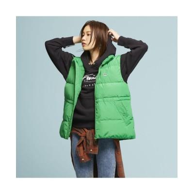 【アディダス】 ダウン パファー ベスト レディース グリーン L adidas