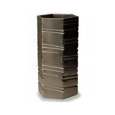 信楽焼陶器 傘立 六角ブラック 傘立 高さ48cm G5-6807