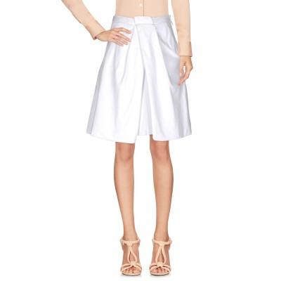 ディースクエアード DSQUARED2 ひざ丈スカート ホワイト 42 コットン 98% / ポリウレタン 2% ひざ丈スカート