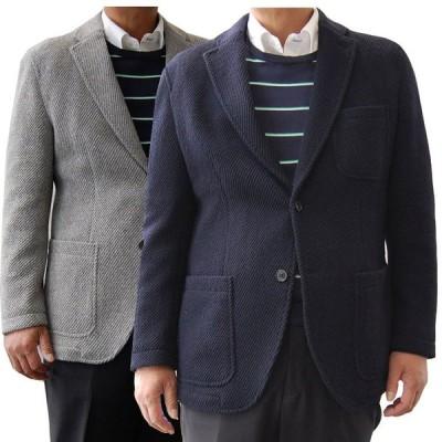 ニットジャケット カーディガン ジャケット ブレザー グレー ネイビー メンズ カジュアル サイズ S / M / L / LL 無地 軽くて暖かい 秋冬コーデ 2206192