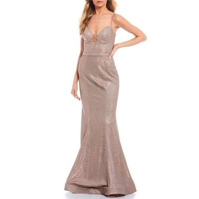 ジービー レディース ワンピース トップス Social V-Neck Bustier Long Dress