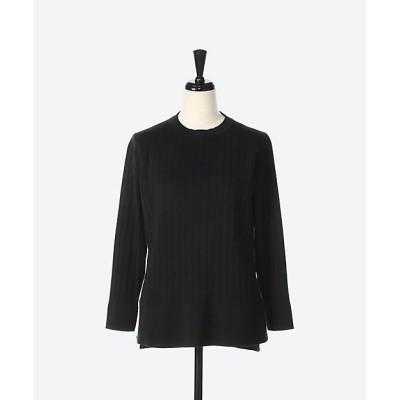 <L'EQUIPE(Women)/レキップ> シルクコットンプリーツセーター ブラック【三越伊勢丹/公式】