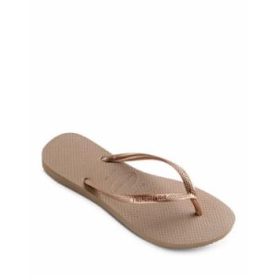 ハワイアナス レディース サンダル シューズ Women's Slim Flip-Flops Rose Gold