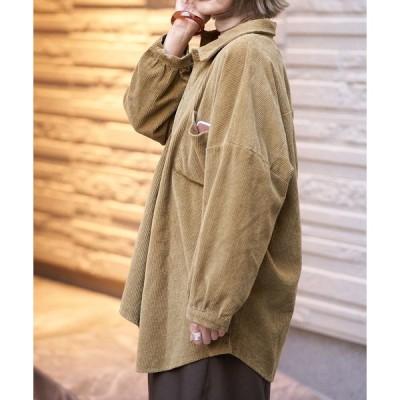 ジャケット ブルゾン コーデュロイオーバーシャツジャケット
