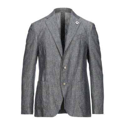 ラルディーニ LARDINI テーラードジャケット ブルー 48 コットン 58% / リネン 42% テーラードジャケット