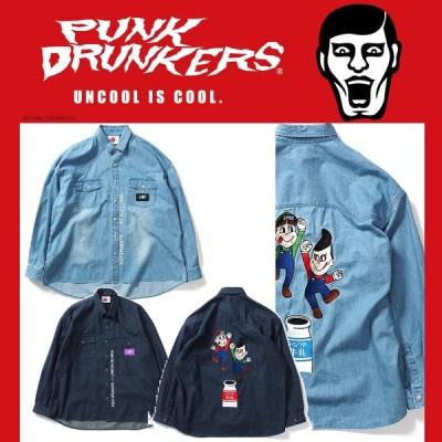 【予約】PUNKDRUNKERS x LAND by MILKBOY ブラザーズデニムシャツ パンクドランカーズ