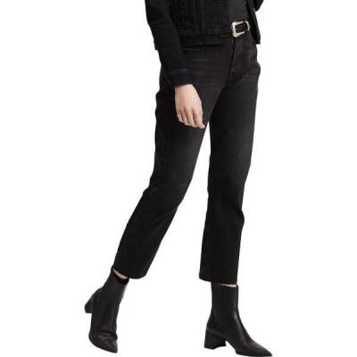 リーバイス レディース カジュアルパンツ ボトムス Levi's Women's 501 High Rise Straight Leg Crop Jeans