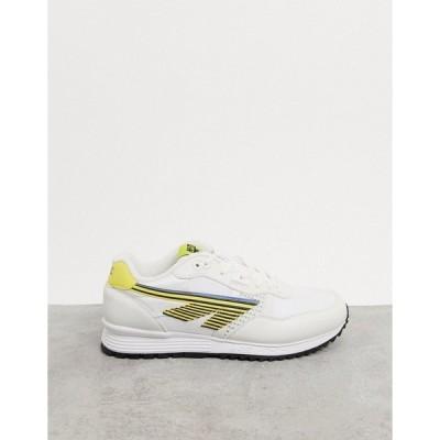 ハイテック メンズ スニーカー シューズ Hi-Tec BW 146 runner sneakers in white yellow Multi