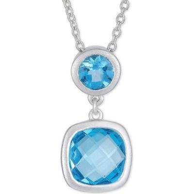 """メイシーズ Macy's レディース ネックレス Amethyst Double Drop 18"""" Pendant Necklace (2-1/10 ct. t.w.) in Sterling Silver (Also in Blue Topaz)"""